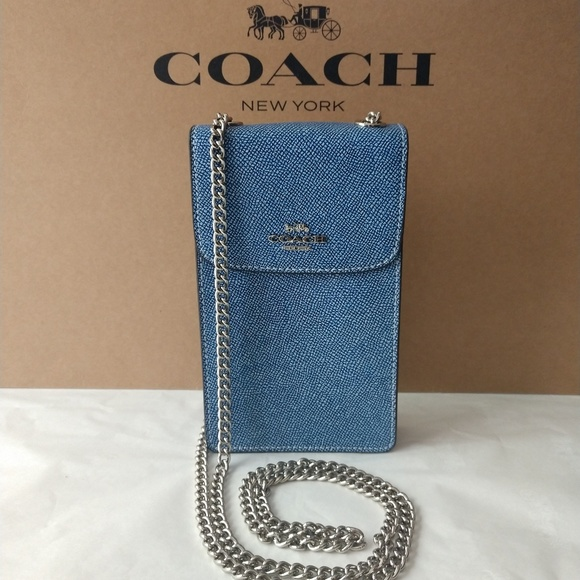 87ac28f3 Coach North/South Phone Crossbody NWT